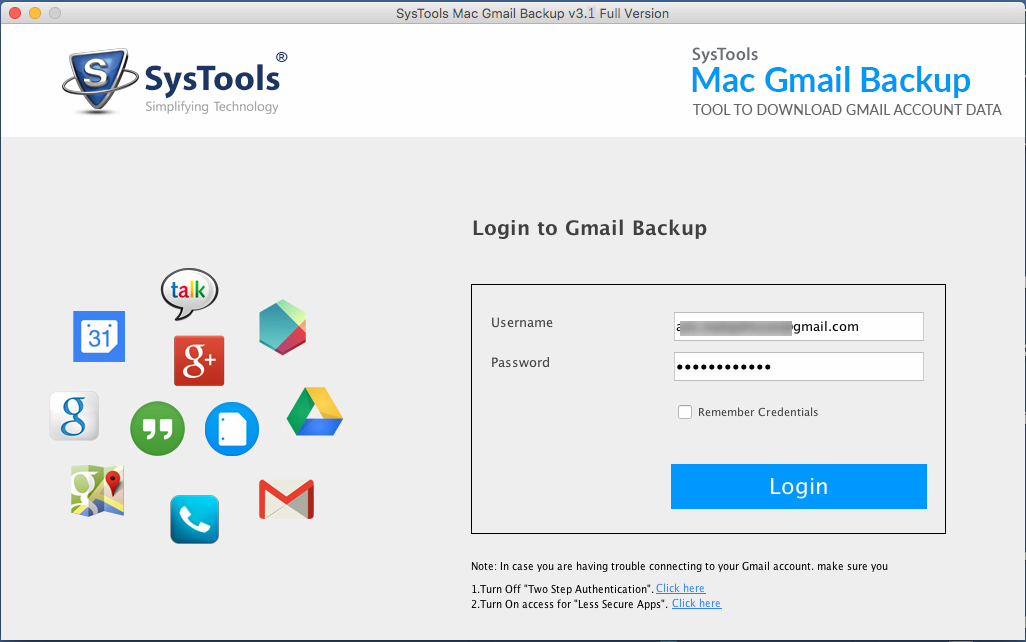 Gmail MAC Backup