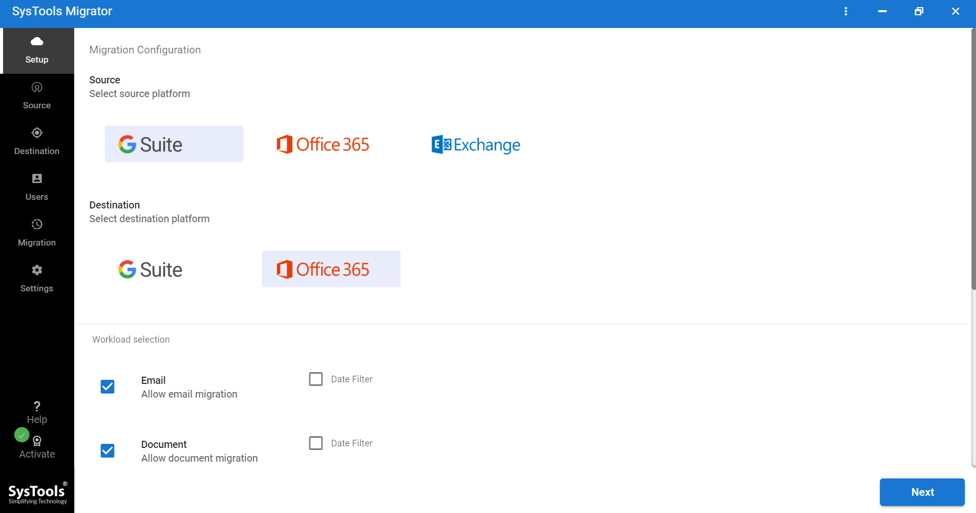 transfer email from Google Apps to office 365