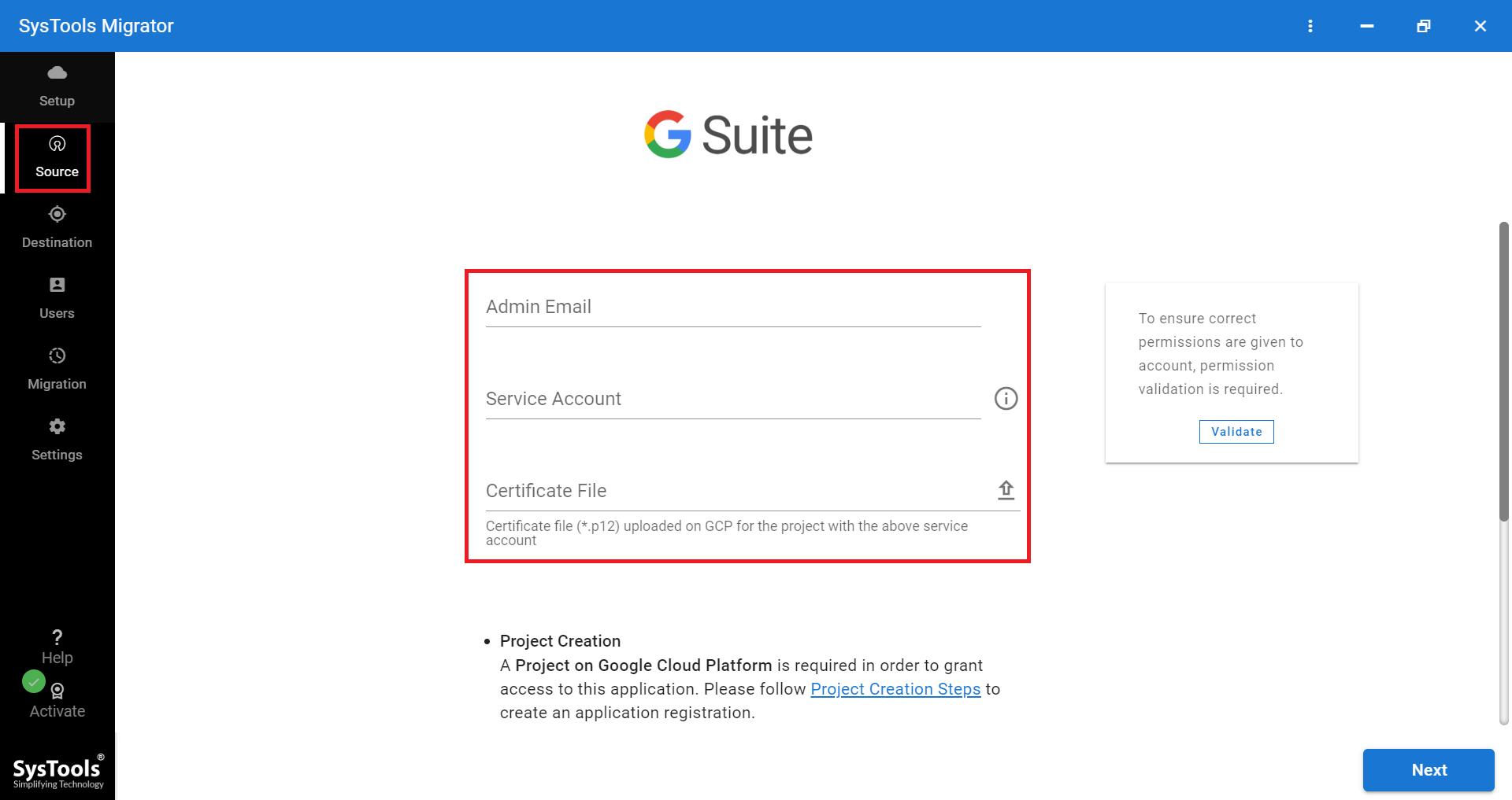 G Suite как источник