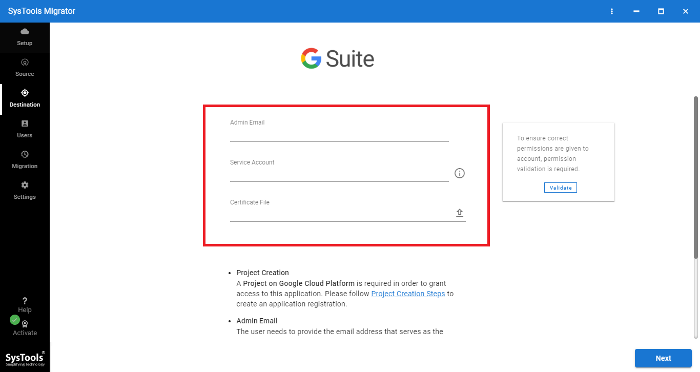 image to merge Google Apps accout easily