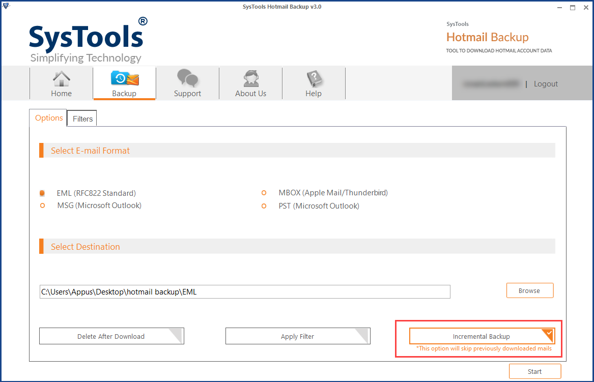 how to save hotmail emails to computer