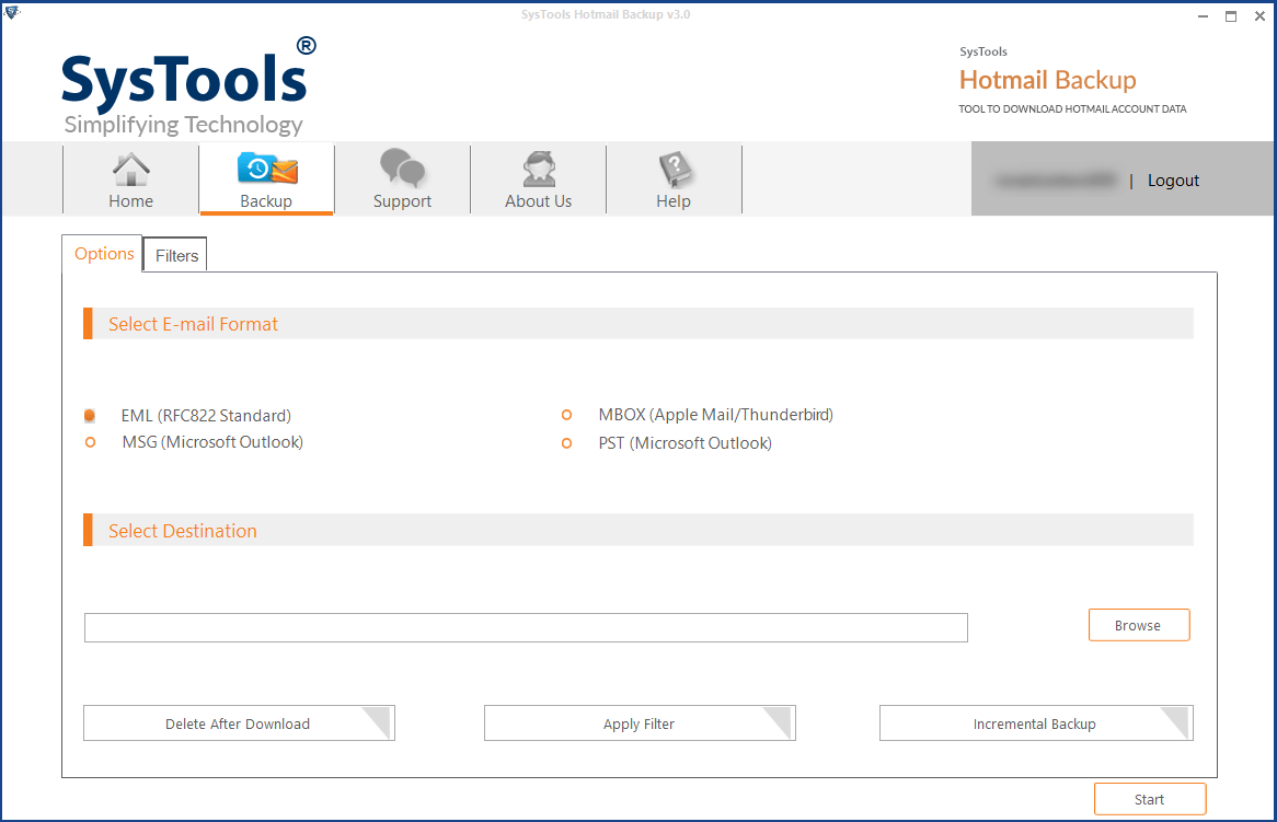 select email format