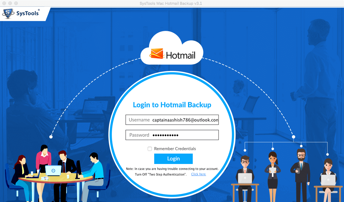 access Hotmail backup software