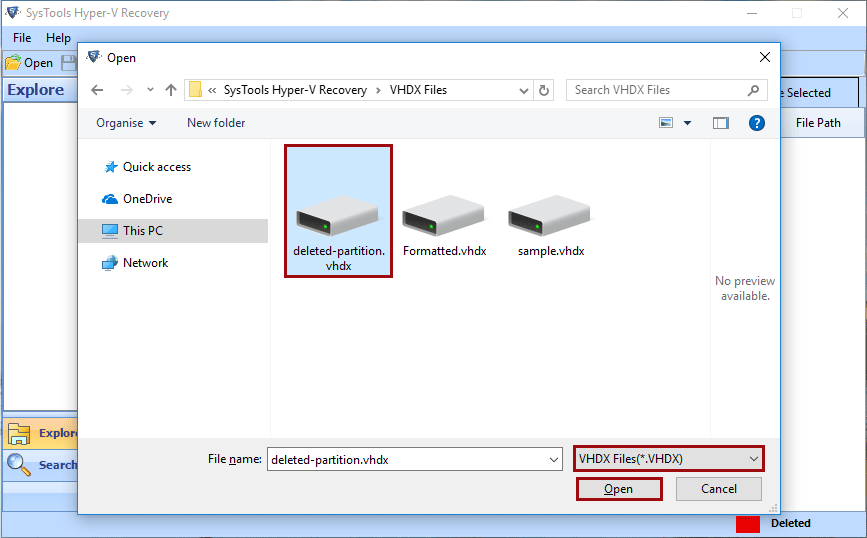 recover vhdx file