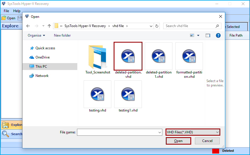 recover vhd files