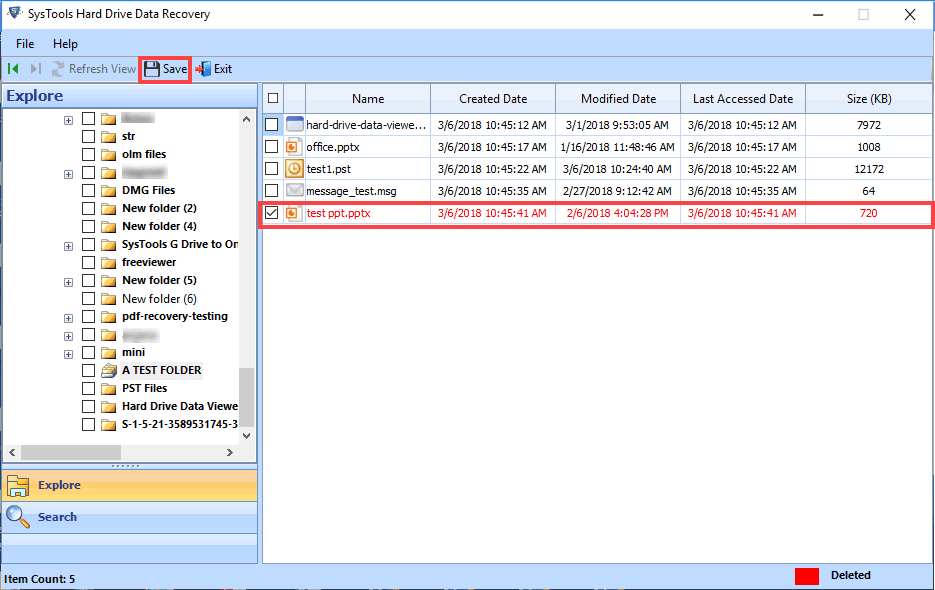 extracted selected folders