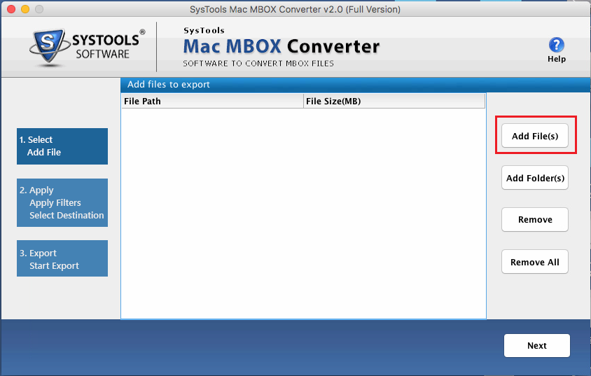 Add MBOX Files