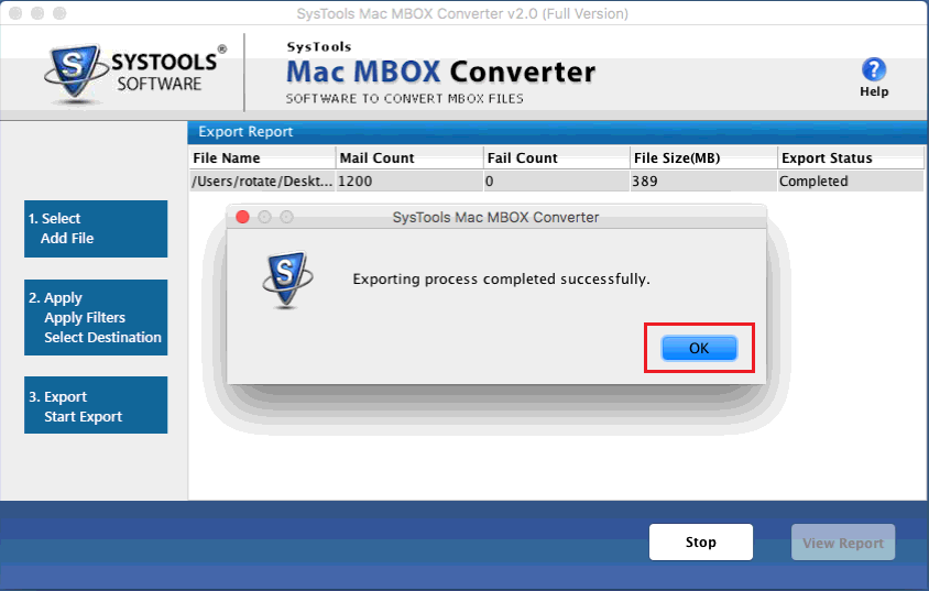 export mbox files