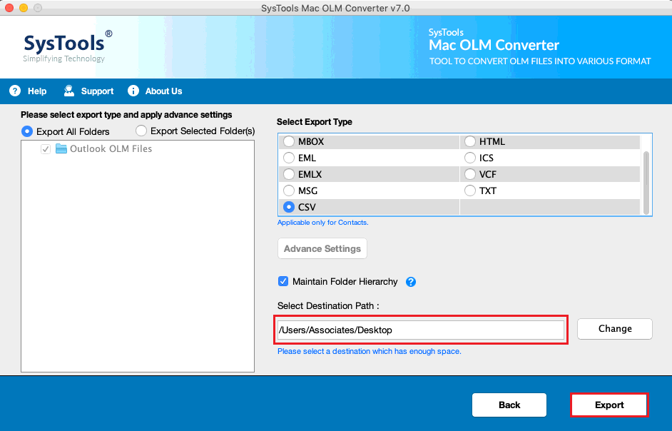 convert-outlook-olm-to-csv
