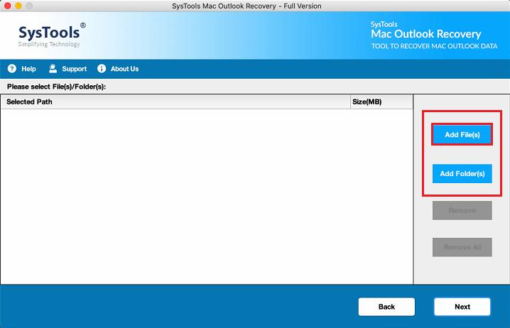 add mac Outlook OLM file