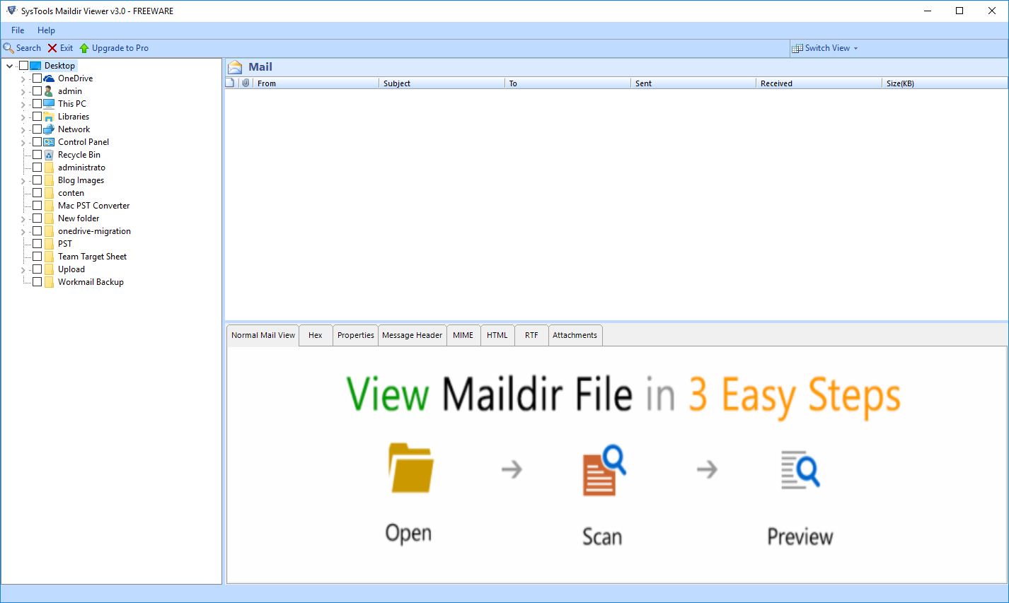 Run Maildir Viewer Tool