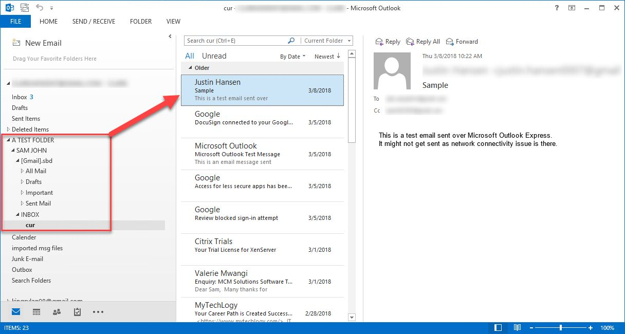 import pst in outlook