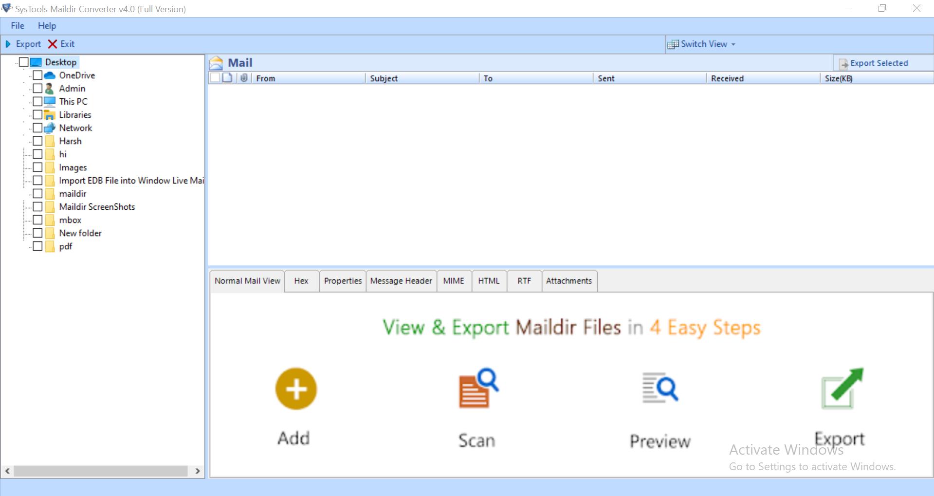 Maildir Backup Tool