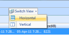 choose horizontal or vertical