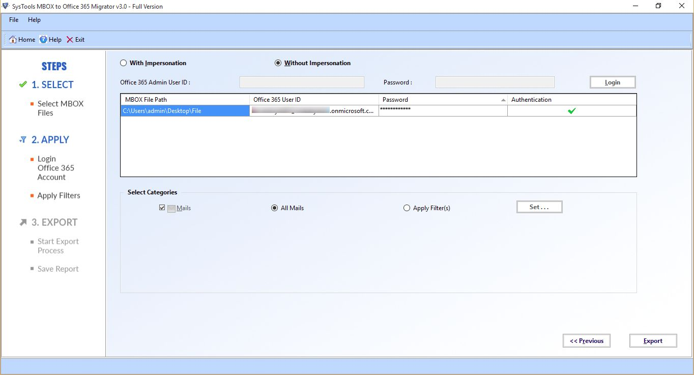 Upload MBOX to Office 365 Account