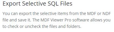 migrate select SQL database