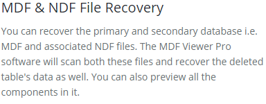 recover data properly