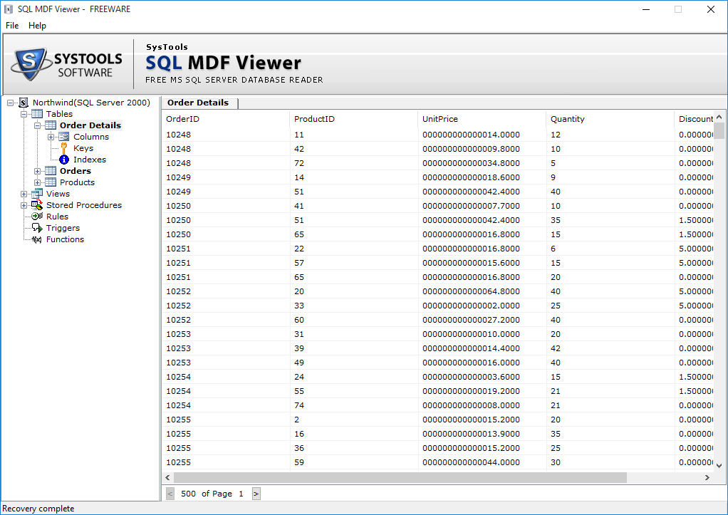 preview mdf file database