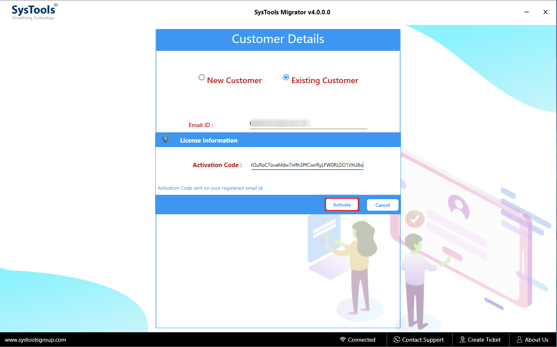 Add Admin Credentials for Source & Destination account