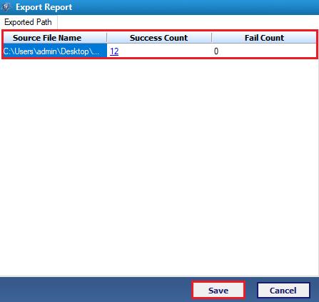 export report