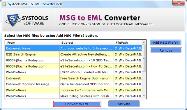 preview msg files attributes