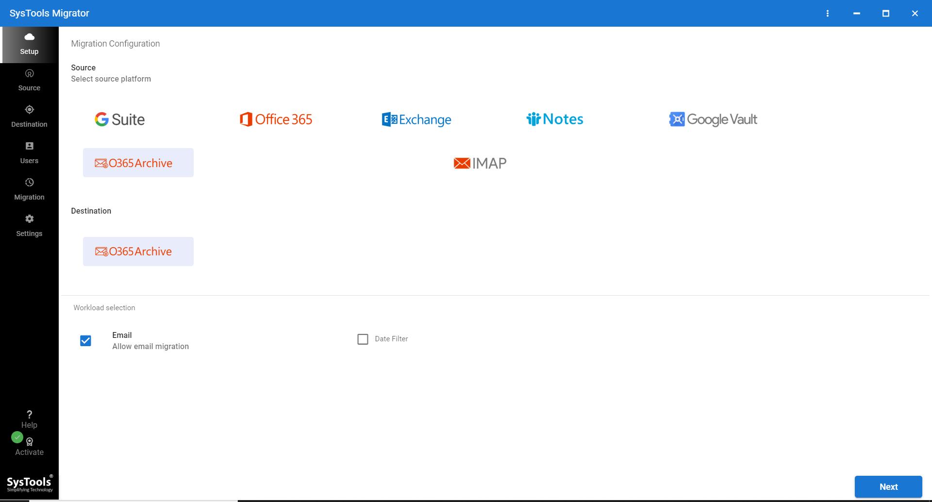 O365 archive folder migration