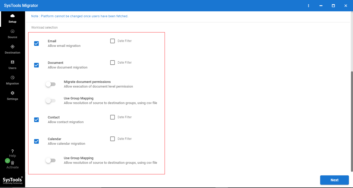 migrate from one office 365 tenant to another