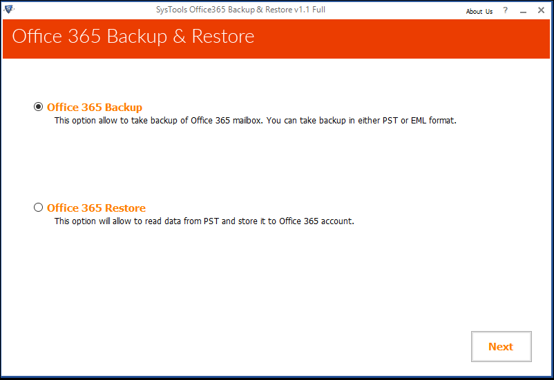 Select Office 365 Backup