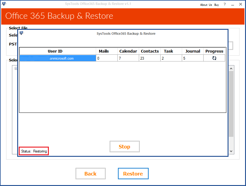restore office 365 mailbox from backup
