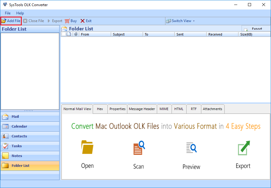 transfer OLK to Outlook