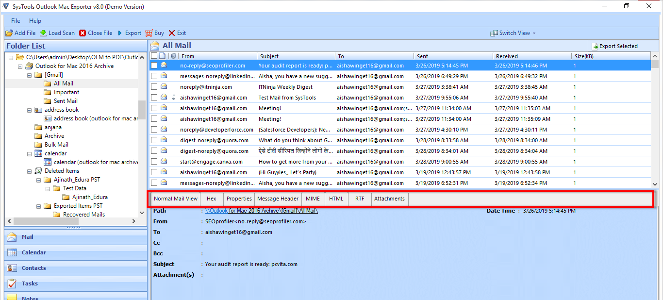 OLM Data Recovery Tool for Windows