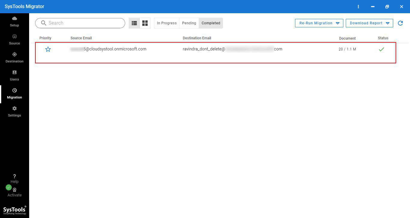OneDrive Migration Completed