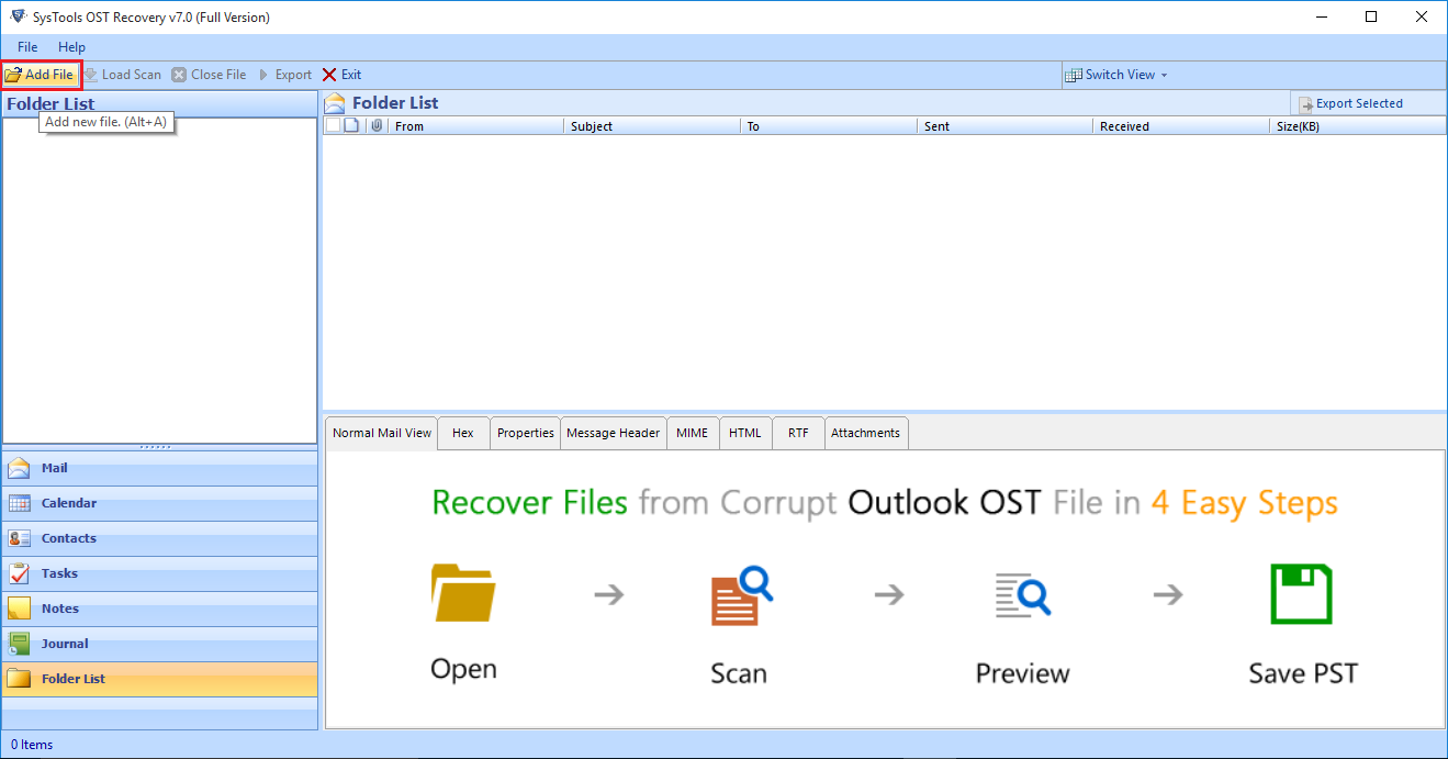 outlook 2010 export imap to pst