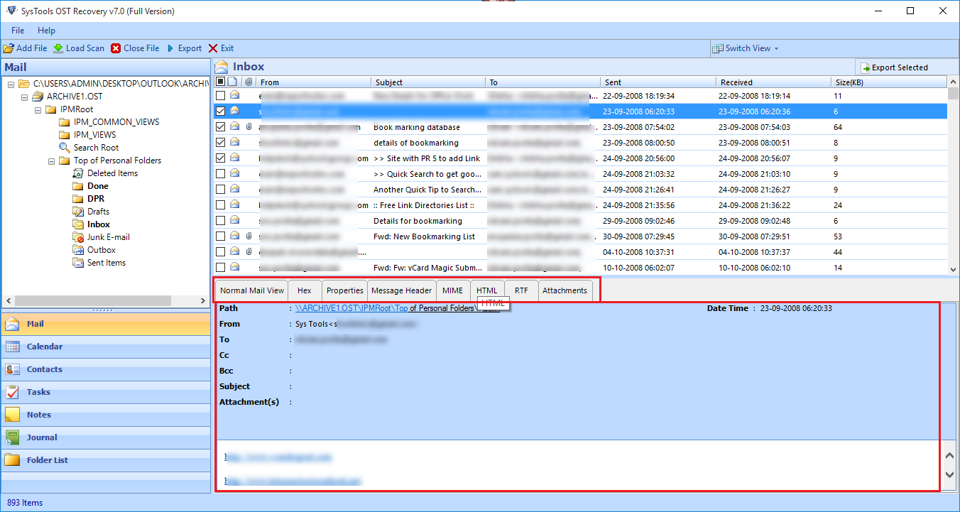 outlook 2013 export imap to pst empty
