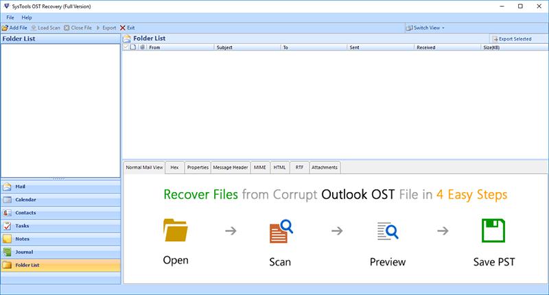 Repair damaged OST File