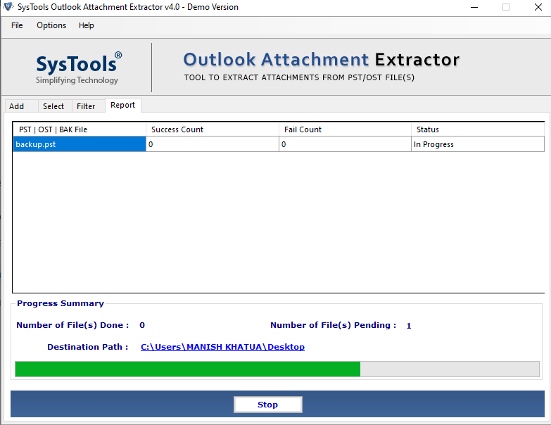 Microsoft Outlook Email Attachment Extractor