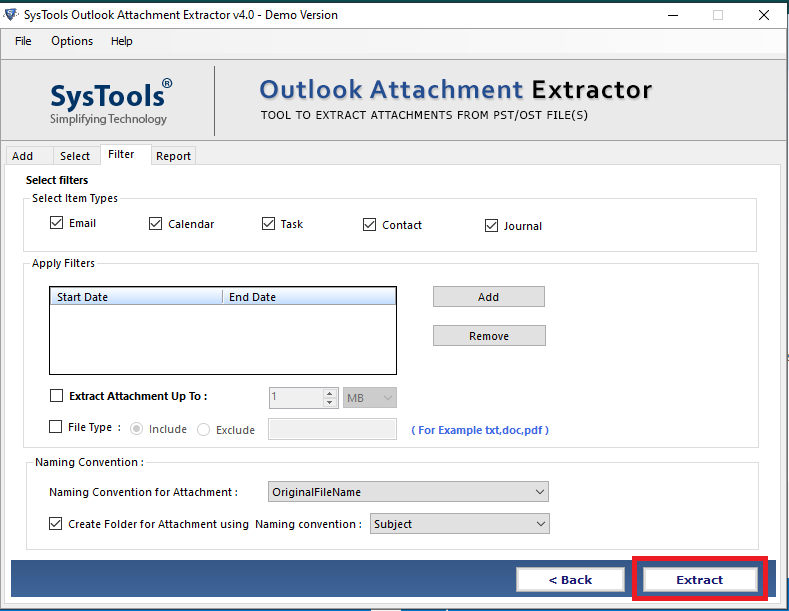 extract attaachments from Outlook