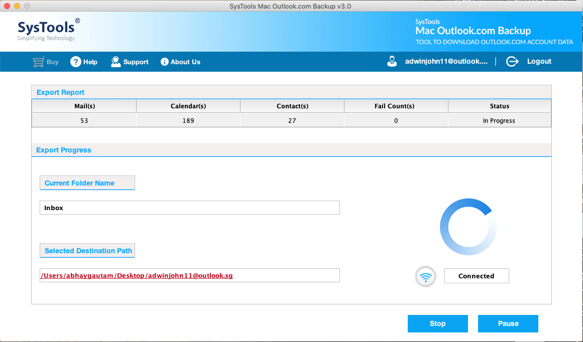 exporting Outlook.com mail to hard drive