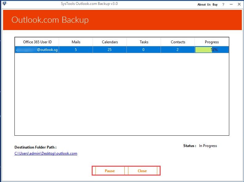 Backup Outlook Account