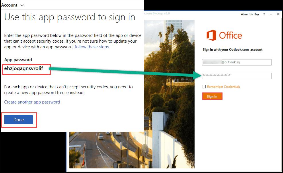 copy app password