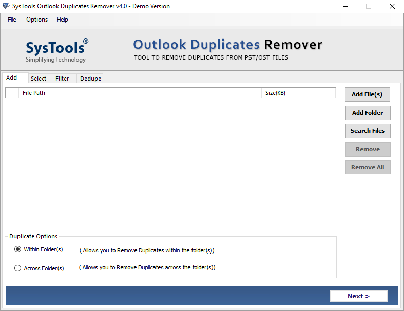 Outlook Duplicate Remover Preview