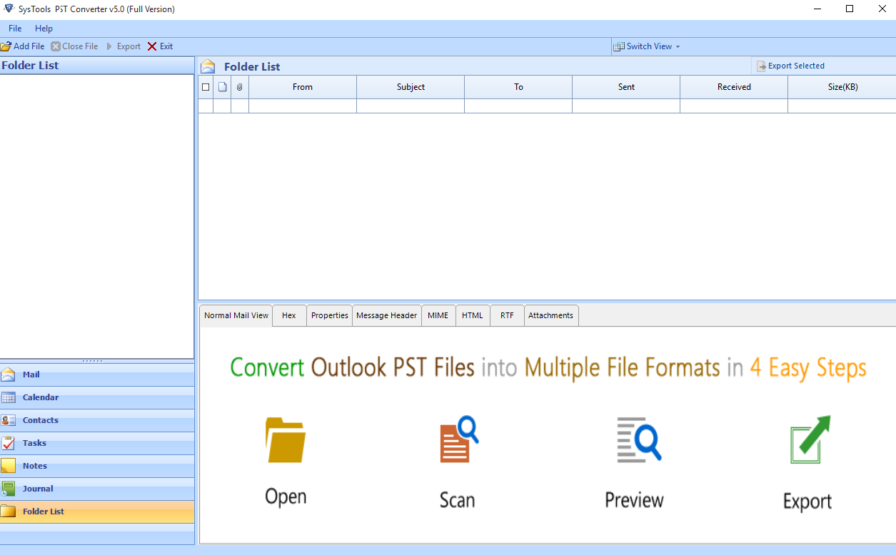 add outlook pst file