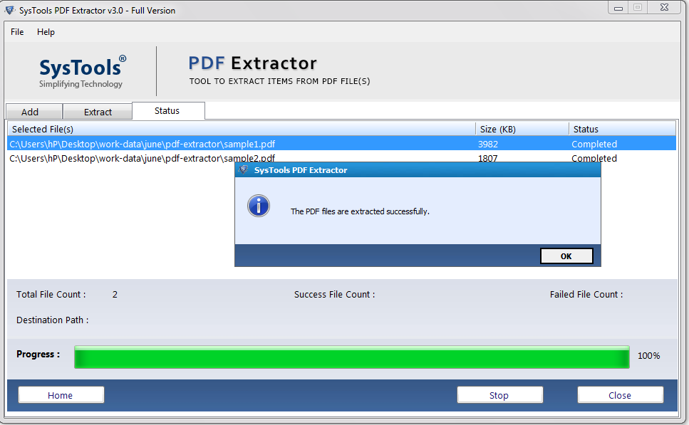 pdf file extraction