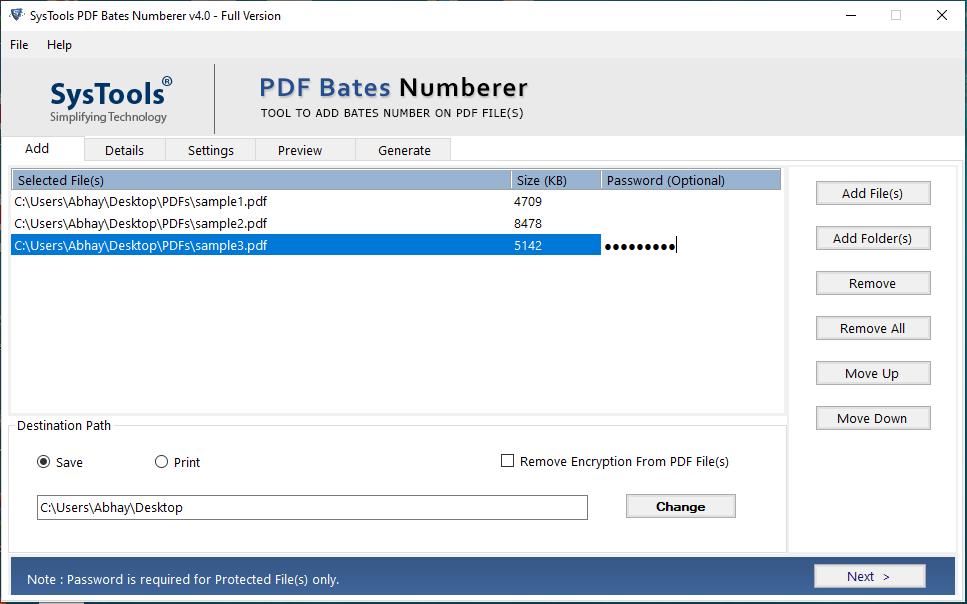 add pdf file or folder