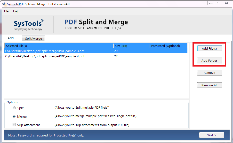 browse pdf files to merge