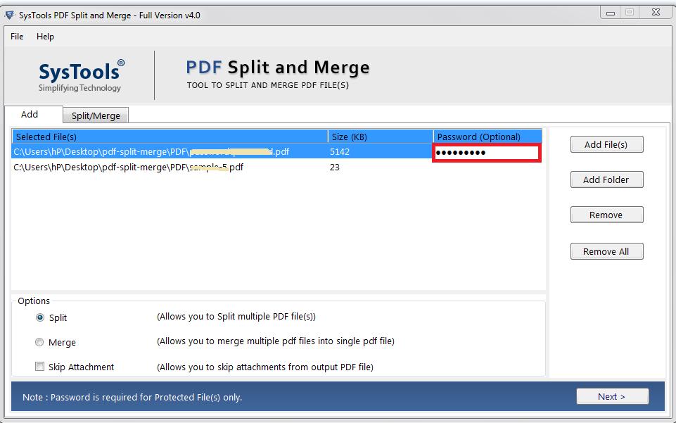PDF Combine and Split tool