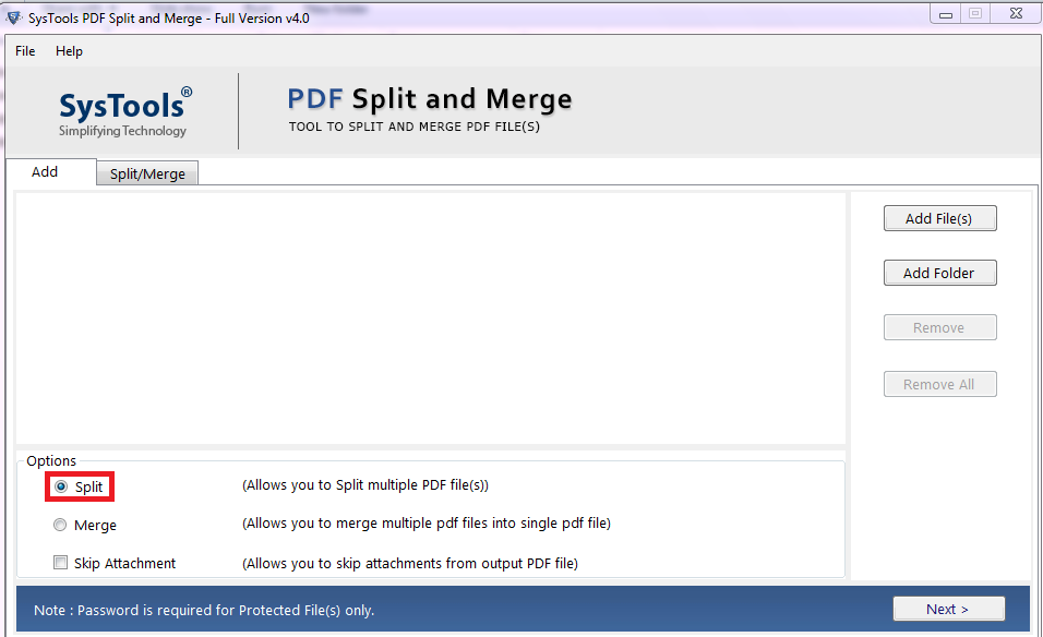 pdf split and merge software