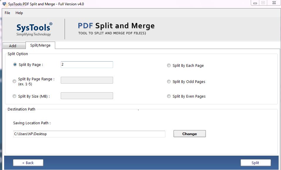 trouble free pdf split and merge tool
