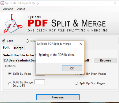 pdf files are splitted