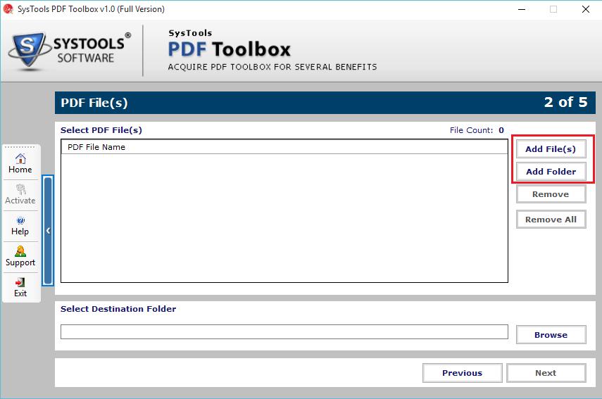 add pdf files or folder